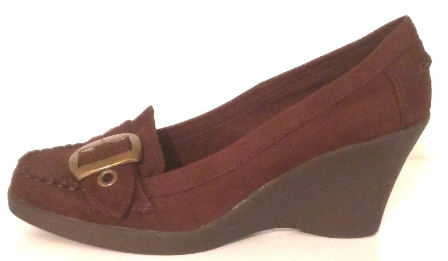 AMERICAN EAGLE 65095 - Women's Wedge Heel Suede Oxfords - Size  7