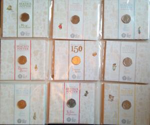 Royal Mint - Beatrix Potter 50p Coin BU Presentation Pack 2016, 2017, 2018 album
