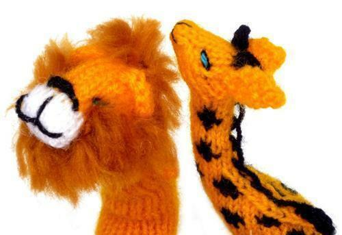 Lot 500 Finger Puppets Zoo-Handmade Puppen & Zubehör Hand Knit Toy