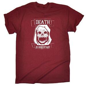 Cráneo de muerte es hereditaria T-Shirt Zombie Calavera Grim reaper goth regalo de cumpleaños  </span>