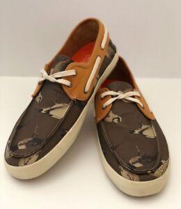 71fe9341d8 VANS Chauffeur (Birds) Gray MOC Textile Boat Shoes Men s Size 7 ...