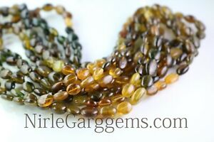 Natural-Petrol-Tourmaline-Oval-Shape-gemstone-beads-8-Inch-AAA-6-5X8-MM