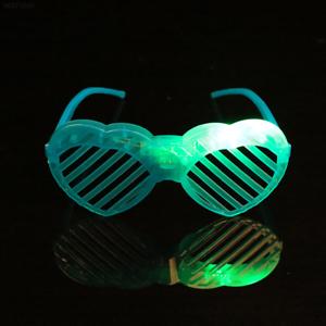 Occhiali E3B5 1459 Led Luce Flash Light Up Up bicchieri da CUORE FLASH Festa Lampeggiante