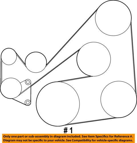 MAZDA OEM 10-13 3-Serpentine Drive Fan Belt L51015909C9U