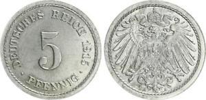 5 Peniques 1915A Extremadamente Raras Probe Sadar 12M7 Excelente