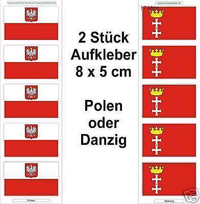 La pologne ou Gdansk 3 voiture bateau vélo drapeaux autocollants