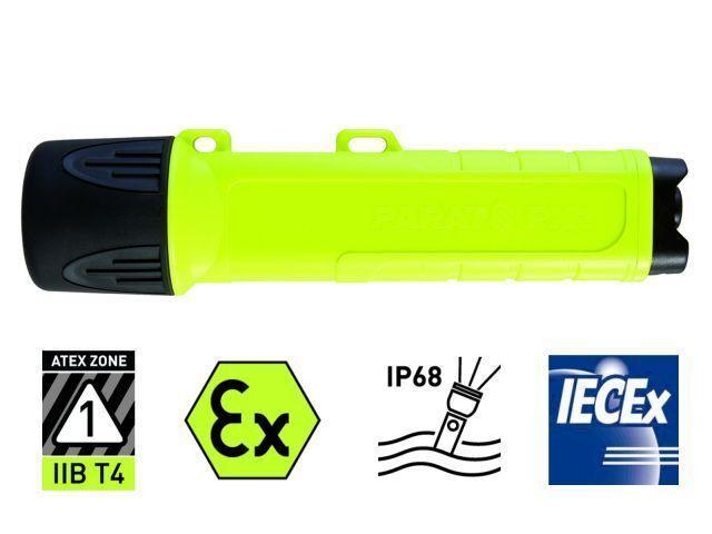 Taschenlampe Parat  PX1 mit Batterien LED 6.911.052-158  NEU und OVP
