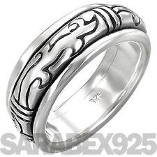 ORIGINALE Solido 925 Sterling Silver Tribale Spinner Anello-X (US 11,75) tra uomini e donne