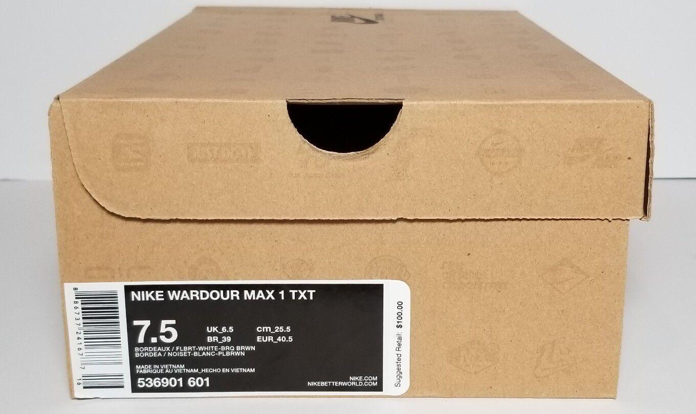 NIKE MEN'S WARDOUR MAX MAX MAX 1 TXT COLOR-BORDEAUX NEW BOX MULTIPLE SIZES 536901 601 5047d8
