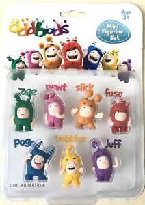 Oddbods-Set-of-7-Figures-Mini-Figurine-Set-Toys-Brand-New