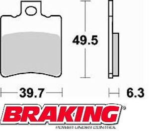 BRAKING-PASTIGLIE-FRENO-POSTERIORE-MALAGUTI-F12-PHANTOM-50-2005-BRAKE-PADS-REAR