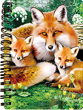 NEW 3D LiveLife FOXES Jotter lenticular notebook LAST ONE!