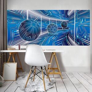 VLIES Fototapeten Tapete Abstraktion Kunst Tunnel 3D Modern Kugeln 3FX10076VEP