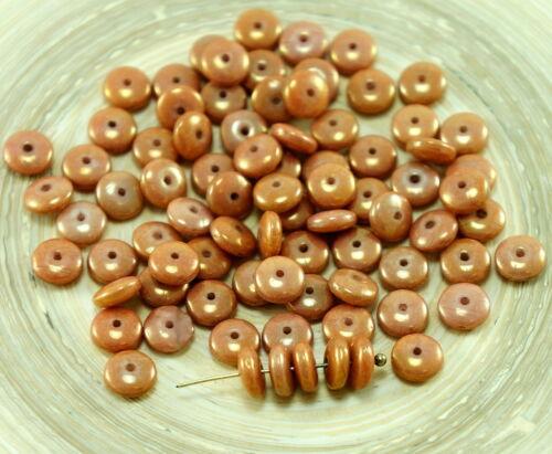60pcs de de tchèque Disque Rondelle Perles Solo Disque Plat Espaceur Un Trou de