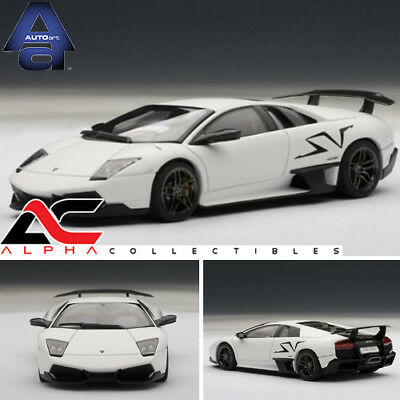 Autoart 54628 1 43 Lamborghini Murcielago Lp670 4 Sv Matt White For
