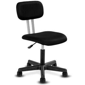 Armless Mid-back Mesh Office Chair Swivel Height Adjustable Office Desk Task