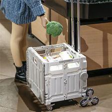 New Listingfoldable Utility Cart Folding Portable Rolling Handcart Shopping Trolley 110lb