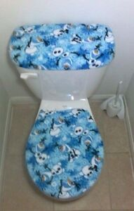 Image Is Loading Disney Frozen Olaf Fleece Fabric Toilet Seat Cover