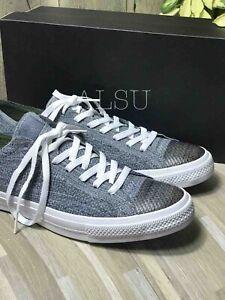 Sneakers-Men-039-s-Converse-Ctas-x-Nike-Flyknit-Low-Top-Black-Light-Carbon-Grey