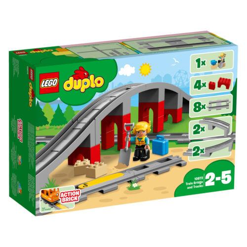 LEGO DUPLO 10874 10872 10882 Locomotive a Vapeur pont de chemin de fer rails Set n9//18