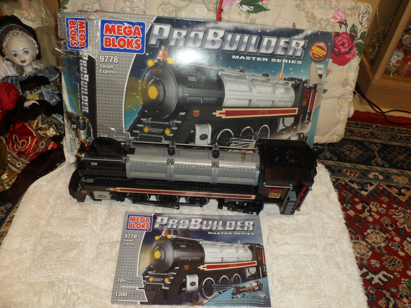 MEGA BLOKS PRO-BUILDER MASTER SERIES - 9778 Steam Express, 1300 PCS, 10+, 2004