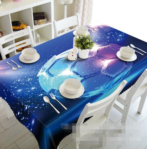 3D Football 52 Tablecloth Table Cover Cloth Birthday Party Event AJ WALLPAPER AU