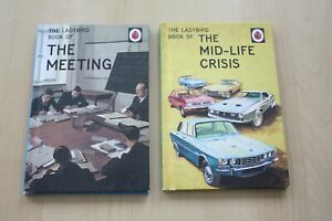 2-TWO-LADYBIRD-HARDBACK-BOOKS-THE-MEETING-amp-THE-MID-LIFE-CRISIS-VGC
