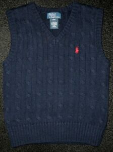 PREOWNED-RALPH-LAUREN-POLO-CABLE-KNIT-COTTN-PULLOVER-SWEATER-VEST-KIDS-BOYS-4-4T