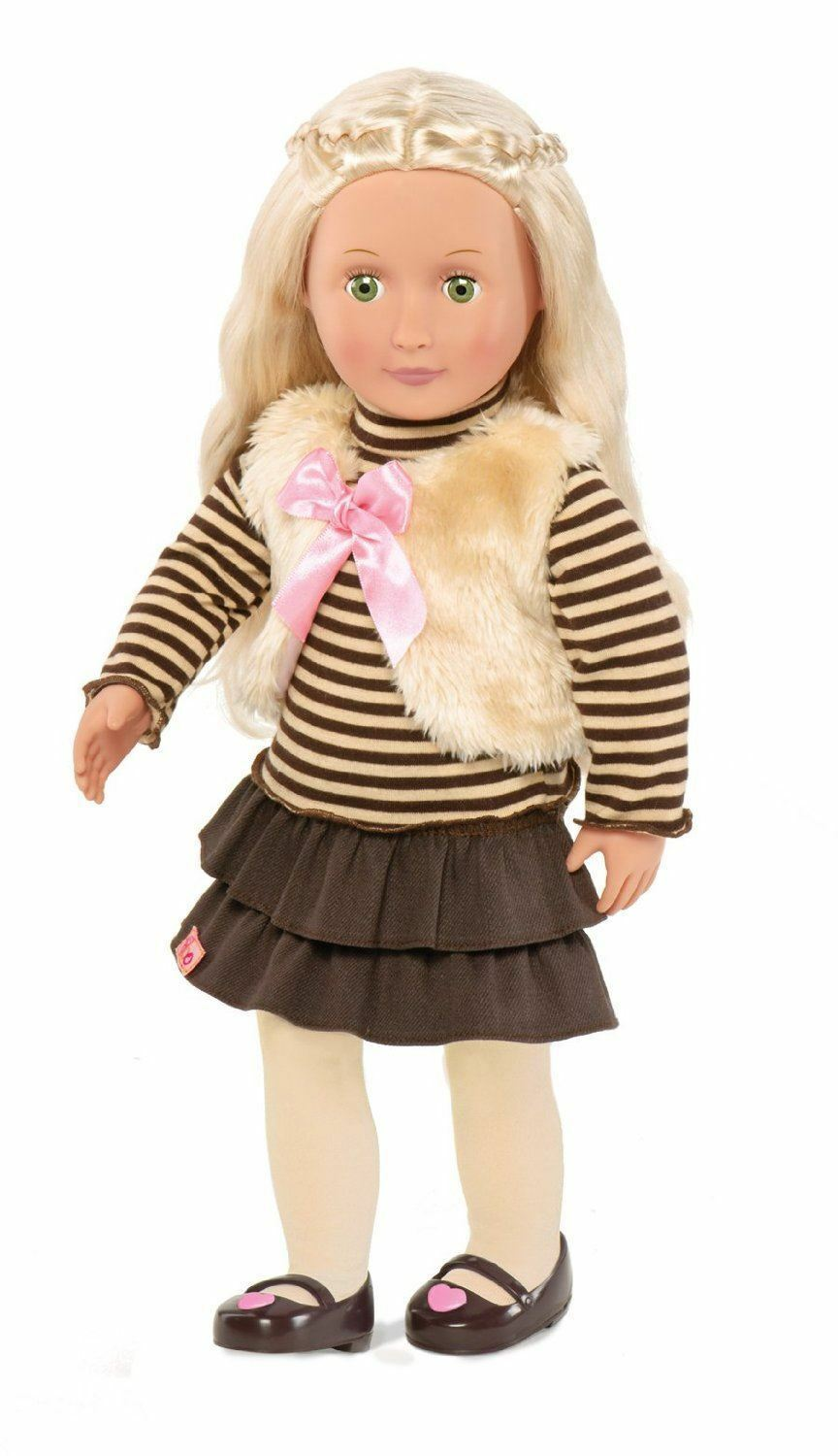 Our Generation Dolls Holly Doll 18 inch 46cm Fur Gilet Outfit