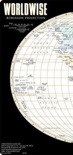 Streetwise World Map - Laminated Map of the World - WORLDWISE