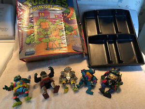 Vintage-Teenage-Mutant-Ninja-Turtles-Case-w-5-Figures-Slash-Metalhead-1990