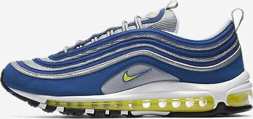 Nike Air Max '97 921826-401 Men's shoes Atlantic bluee Voltage Yellow sz 11.5