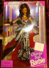 Vintage Pink Box 1997 Mattel Barbie Charity Ball Doll MIB Brunette New