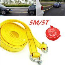 Nylon Car Van Tow Rope Hook Heavy Duty Road Recovery Pull Towing Strap 5 Tons 5m
