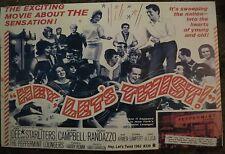 VINTAGE 60S HEY LET'S DO THE TWIST dancing POSTER JOEY DEE STARLITERS 1961 repro