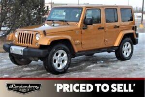 2014 Jeep Wrangler 4WD  SAHARA Accident Free,  Navigation (GPS),  Leather,  Heated Seats,  Bluetooth,