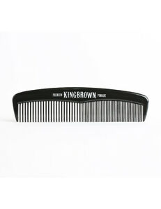 King-Brown-Pomade-Mens-Black-Hair-Styling-Style-Medium-Fine-Tooth-Pocket-Comb