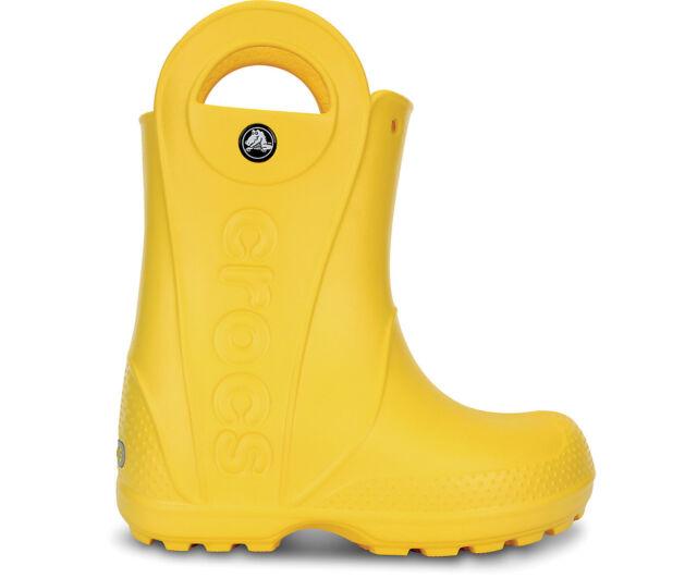 9bc71d537a66 Crocs Handle It Rain Boot Kids - Yellow C13 US Child for sale online ...