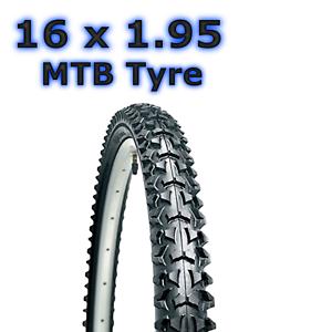 1 x Black Tyre 16 x 1.95 52-305 Childrens Kids Bike Bicycle BMX