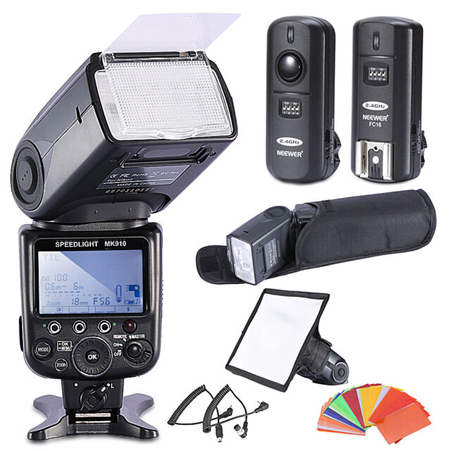 Neewer MK910 i-TTL 1/8000s HSS LCD Display Speedlite Flash Kit for Nikon EM#19