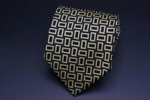 DUNHILL-Silk-Tie-Blue-Red-amp-Yellow-Geometric-Made-in-England