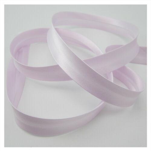 18mm Satin-Schrägband 1meter glänzend nähen lila-rosa Kantenband