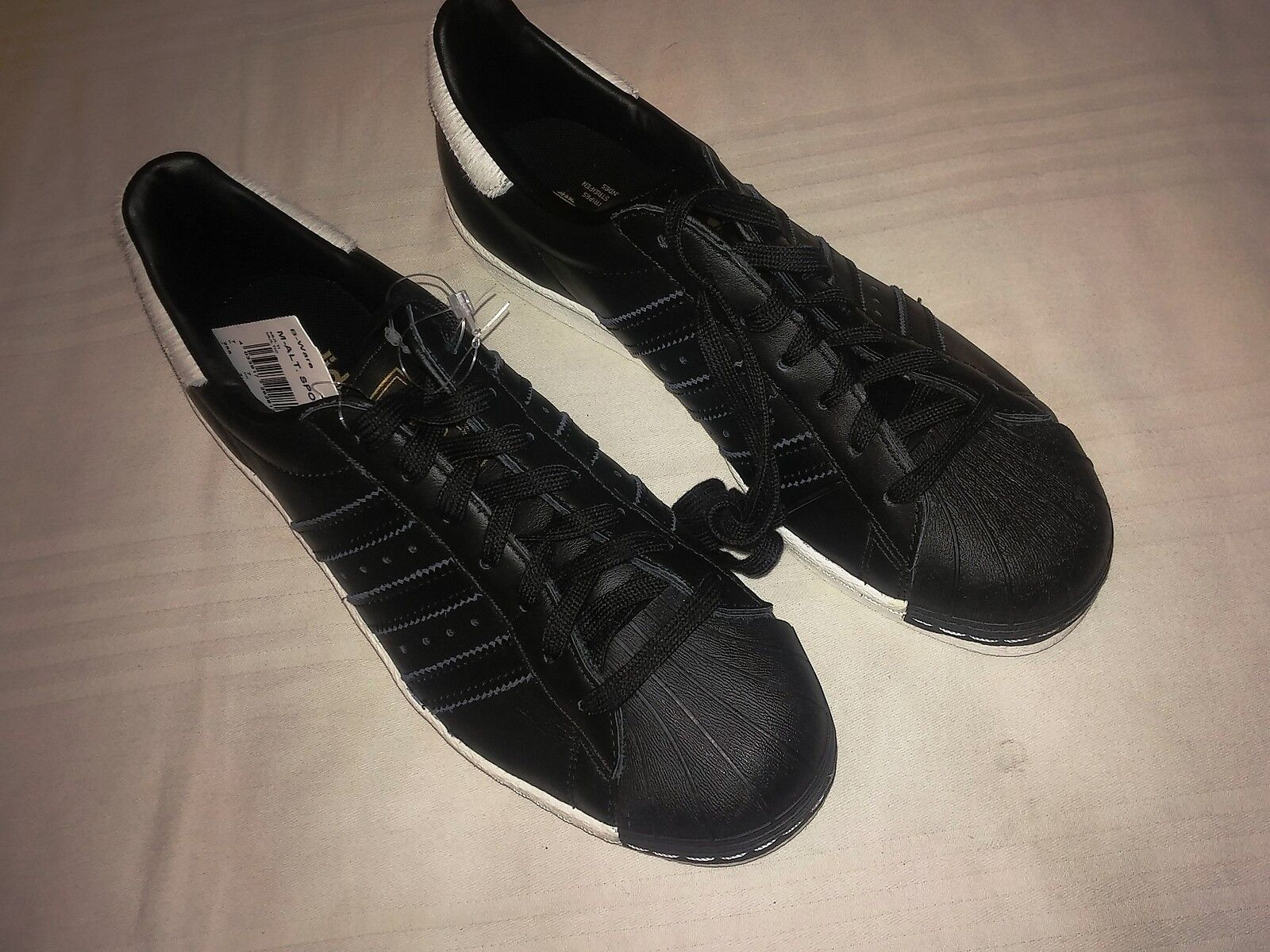 ADIDAS ORIGINALS SUPERSTAR 80s BLACK Weiß US PONY Sz 40-2/3 - US Weiß 7,5 Schuhe schuhe 8f1d10