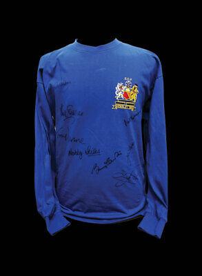 MUFC Man United Football Club Autogramm-Trikot Fanartikel Souvenir Geschenk Sir Bobby Charlton Manchester United 1968 EM Finale signiertes Trikot