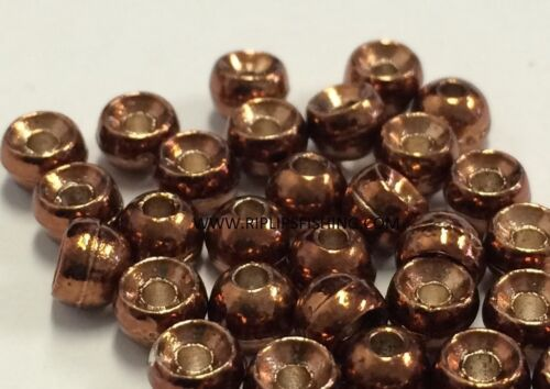 """BRASS FLY TYING BEADS ANODIZED BROWN 4.5 MM 3//16/"""" 200 COUNT"""