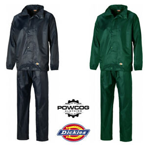 best sneakers big selection offer Details about DICKIES VERMONT Waterproof 2 Piece Rain Suit - Elasticated  Trousers & Jacket Set