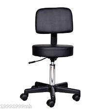 HOMCOM Massage Stool Spa Beauty Salon Chair Adjustable Mid-back PU Leather Black