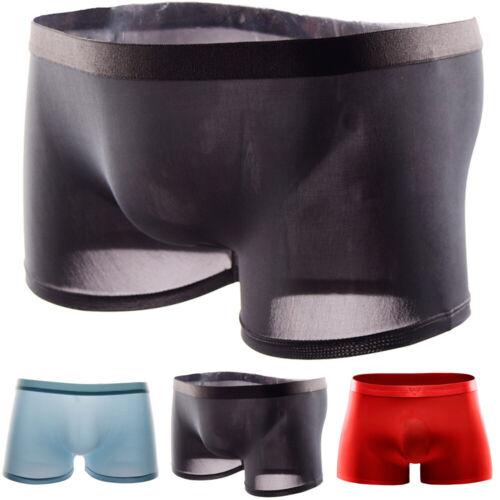 Herren Boxer Briefs Unterwäsche Durchsichtige Shorts Trunks Unterhosen Höschen