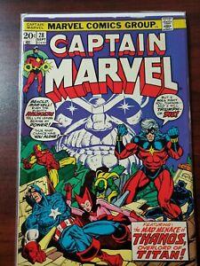 Captain-Marvel-28-Marvel-1973-Thanos-App-Starlin-Avengers-Drax-Bronze-Age-Key