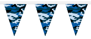 Navy Camo Camouflage Polyester Bunting 5m with 12 Flags